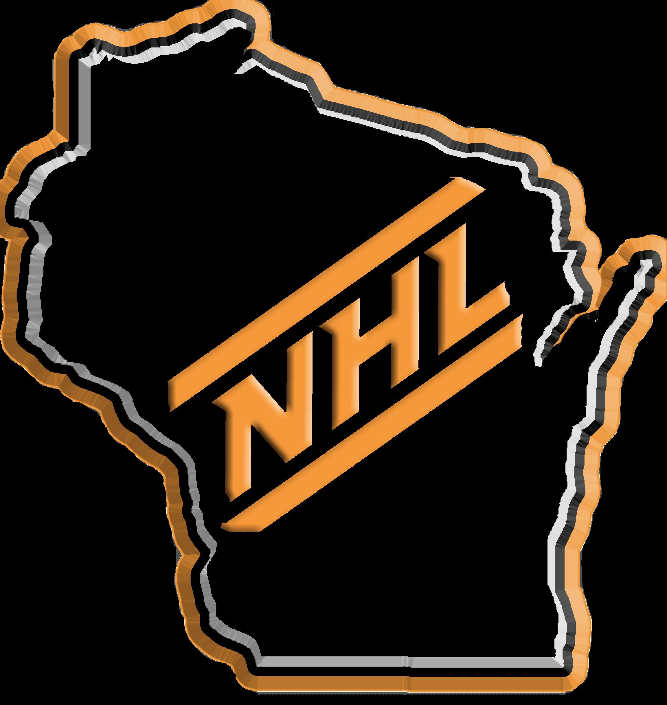 NHl in wisconsin logo