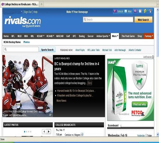 nhl in wisconsin screenshot